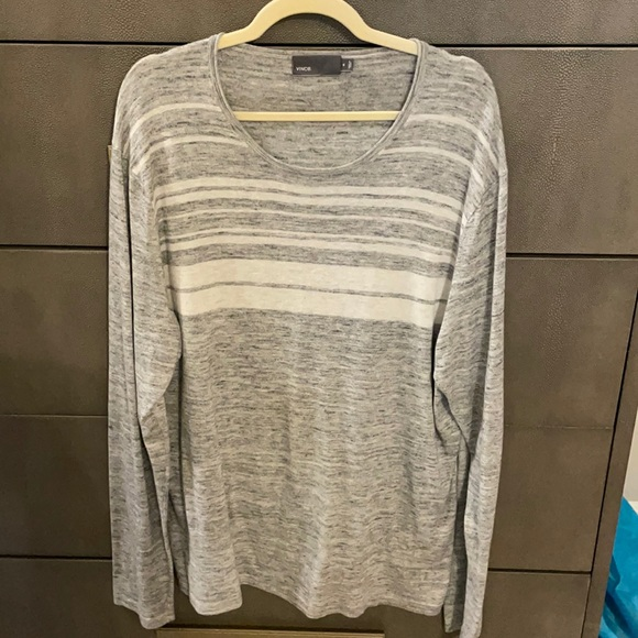 Cotton and cashmere long sleeve tee